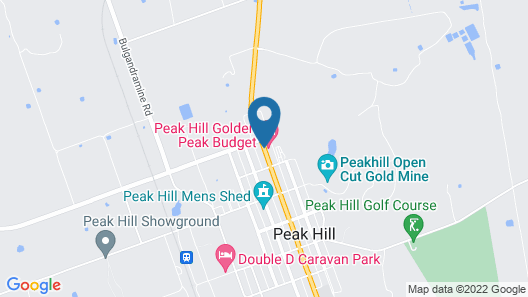 Peak Hill Golden Peak Budget Motel Map