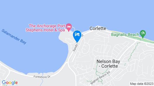 Corlette Palms Motor Inn Map