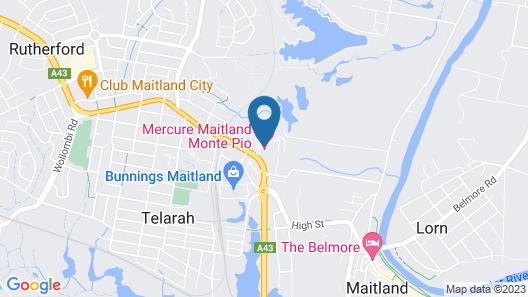 Mercure Maitland Monte Pio Map