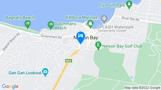 Oaks Nelson Bay Lure Suites Map