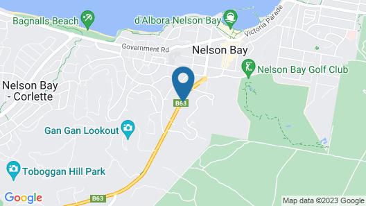 Nelson Bay Bed & Breakfast Map