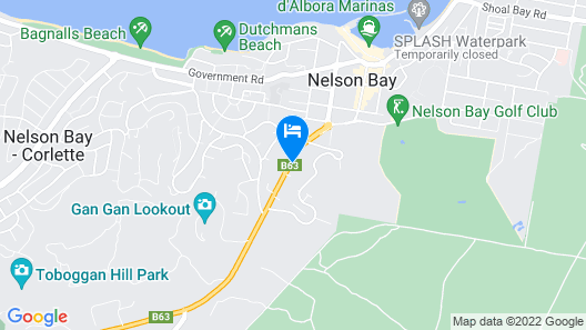 Nelson Bay Bed & Breakfast Map