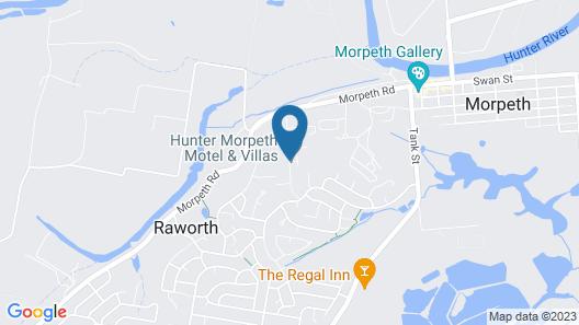 Hunter Morpeth Motel and Villa's Map