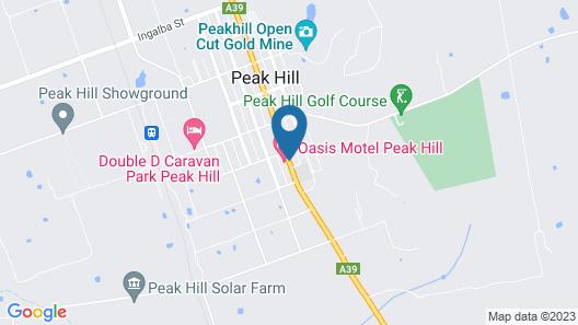 Oasis Motel Peak Hill Map