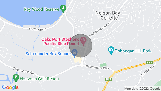 Your own private townhouse within Pacific Blue Resort. Map