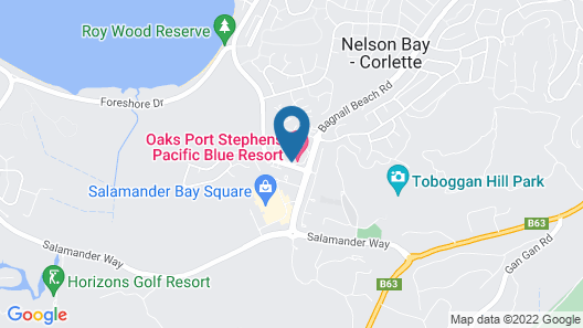 Oaks Port Stephens Pacific Blue Resort Map