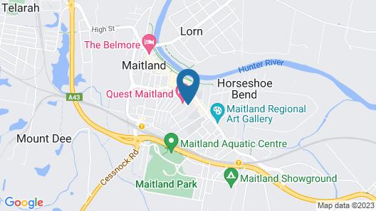 Quest Maitland Serviced Apartments Map