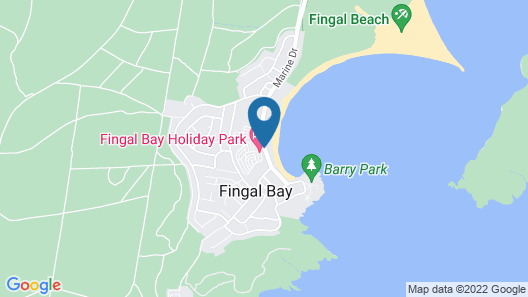 Fingal Bay Holiday Park Map