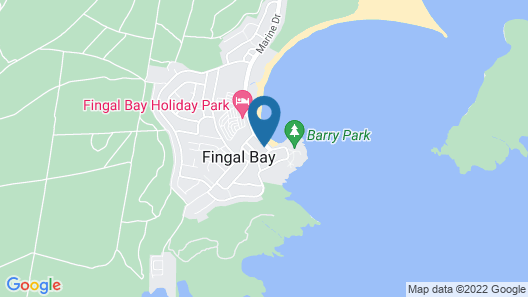 On the Beach at Fingal Bay Map