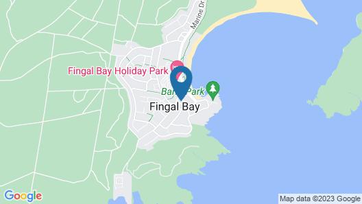 Footprints at Fingal Bay Map