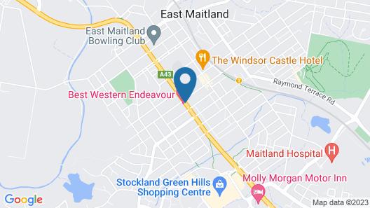 Best Western Endeavour Motel Map