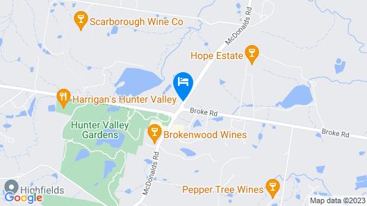 Leisure Inn Pokolbin Hill Map