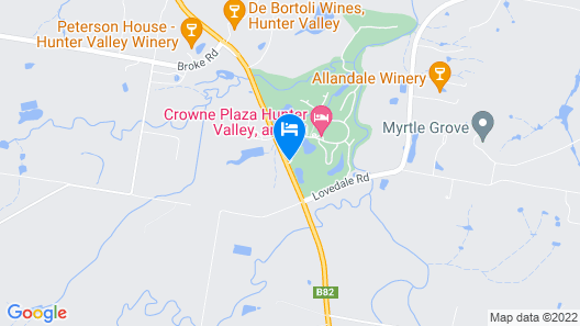 Crowne Plaza Hunter Valley Map