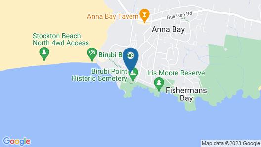 Walk on Birubi, 1/40 Ocean Ave - Pet Friendly, Wifi, Boat Parking & Water Views Map