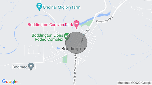 Boddington Retreat located near river has free wifi Map