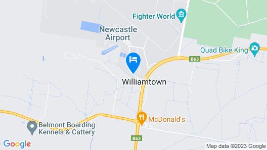 Mercure Newcastle Airport Map