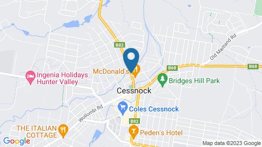 Cessnock Motel Map