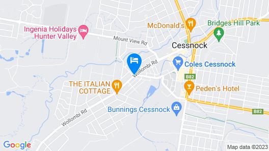 Aussie Rest Motel Map