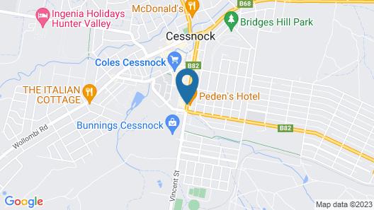 Peden's Hotel Map