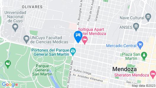 Hotel América Map