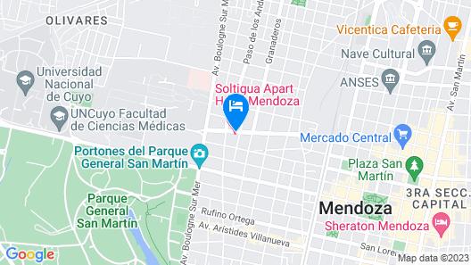 Soltigua Apart Hotel Mendoza Map