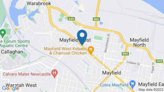 Reign Inn Newcastle Map