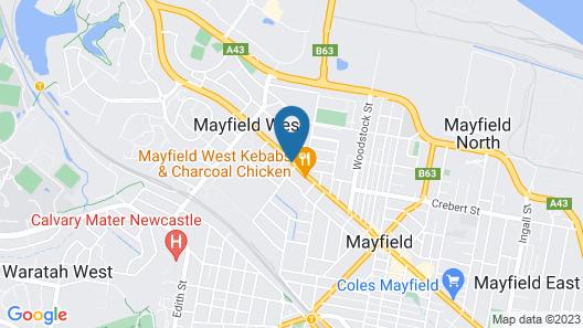 Citigate Motel Newcastle Map
