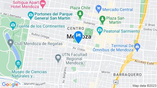 Raices Aconcagua Mendoza Map