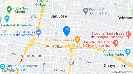 Hotel Portobelo Mendoza Map