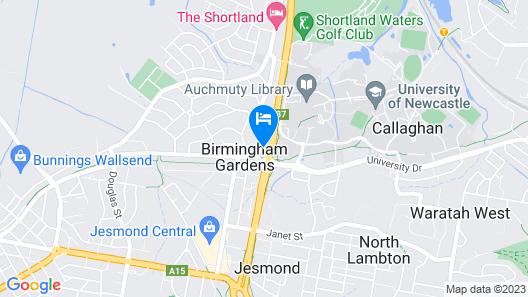 Newcastle Short Stay Apartments - Birmingham Garden Townhouses Map
