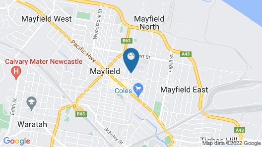 Mayfield Short Stay Apartments Map