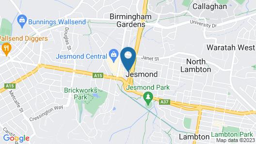 Bluegum Apartments Map