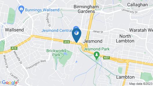 Hotel Jesmond Map