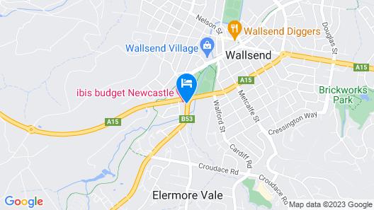 Ibis Budget Newcastle Map