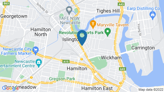The Newcastle Hotel Map