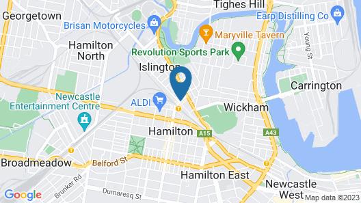 Hamilton on Beaumont Map