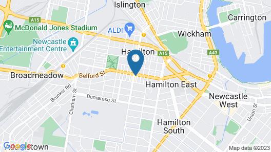 Beau Monde Apartments Newcastle - Boulevard Apartments Map
