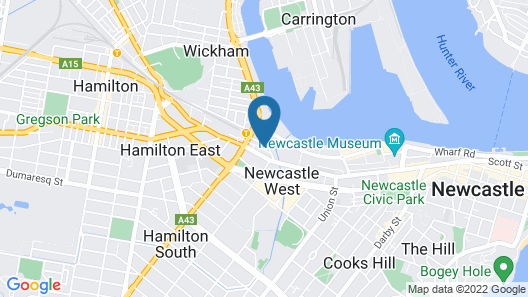 Astra Apartments Newcastle West Map