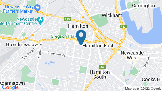 Hamilton Executive Apartments Map