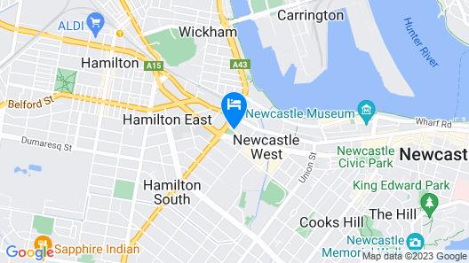 Holiday Inn Express Newcastle, an IHG Hotel Map
