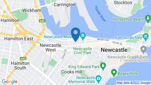 Chifley Apartments Newcastle Map