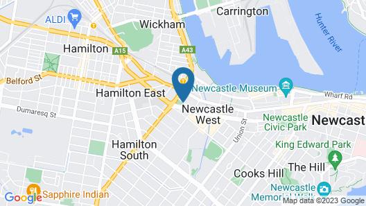 Holiday Inn Express Newcastle Map