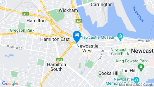 Holiday Inn Express Newcastle Map