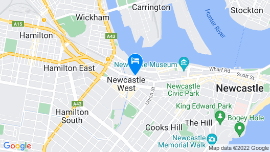 ibis Newcastle Map