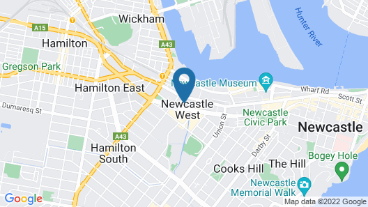 Beau Monde Apartments Newcastle - Verve Apartments Map
