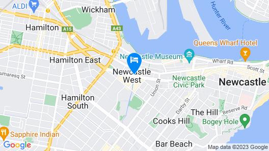Travelodge Hotel Newcastle Map