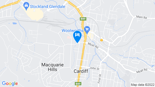 Cardiff Motor Inn Map