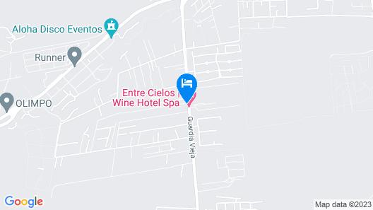 Entre Cielos Luxury Wine Hotel & Spa Map