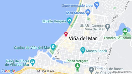 Pullman Viña del Mar San Martín (Ex Atton) Map