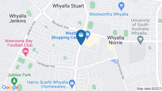 Westland Hotel Motel Map